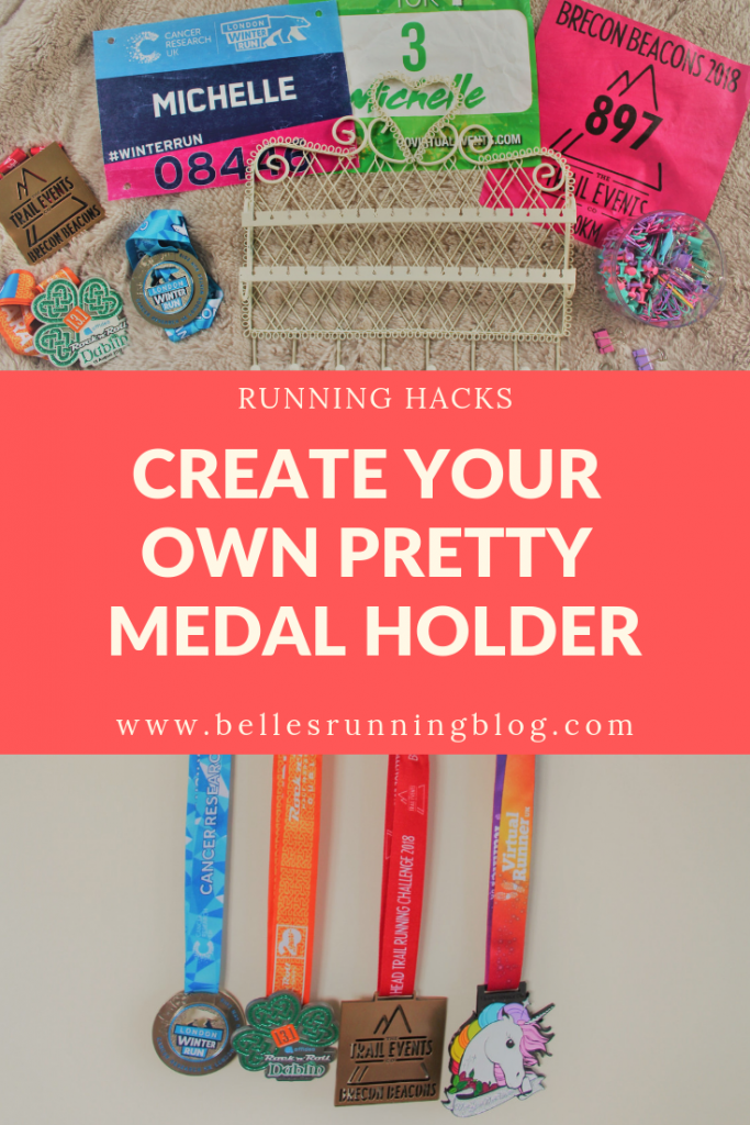 A unique solution to displaying your medals |  Cute and cheap medal display