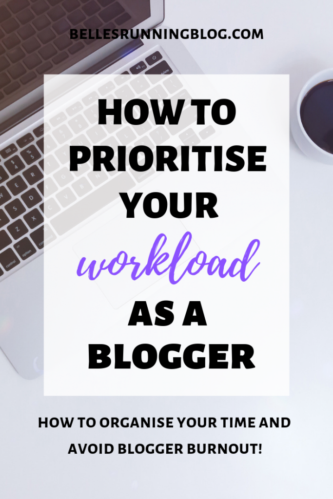 how to prioritise your blog tasks | how to avoid blogger burnout