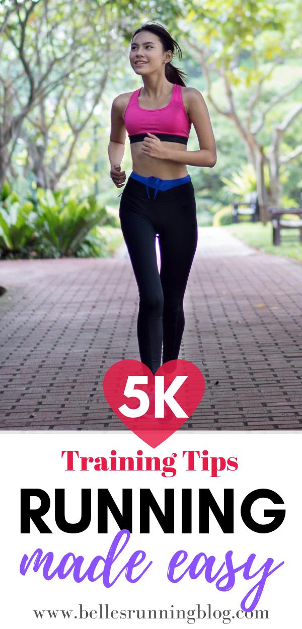 5k training plan for beginners | Beginners running tips | www.bellesrunningblog.com