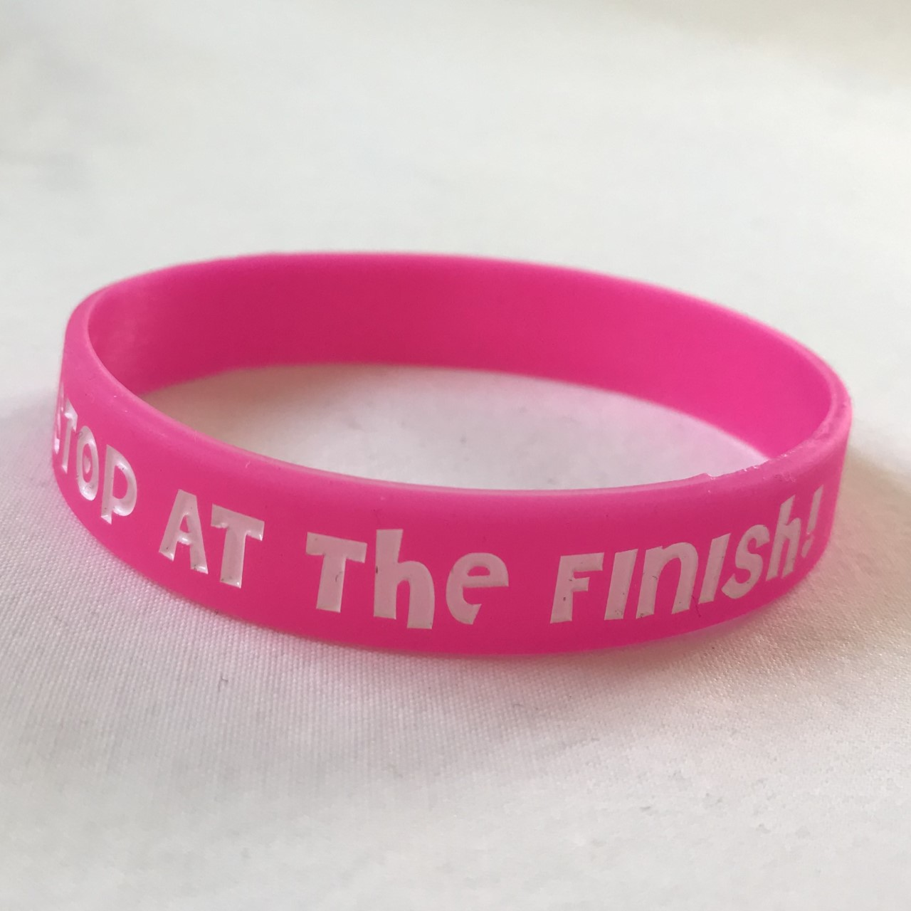 Motivational Running Wristband – Stop At the Finish!
